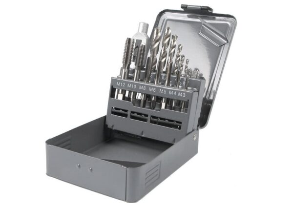 metchiki3 600x428 - Набор метчиков GARWIN GM-TMS15 М3 - 12, HSS, DIN352, 15 предметов
