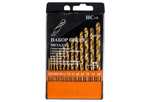 Набор сверл по металлу JSD Tools 100602-НС42 от 2 до 8 шаг 0,5 мм