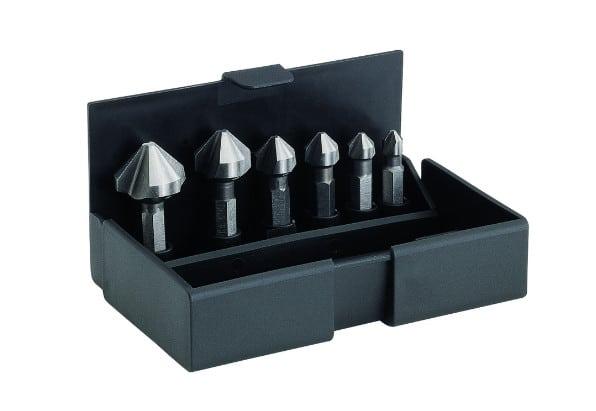 Набор зенковок-бит, 6,3-20,5 мм, 6 предметов, пластиковый кейс