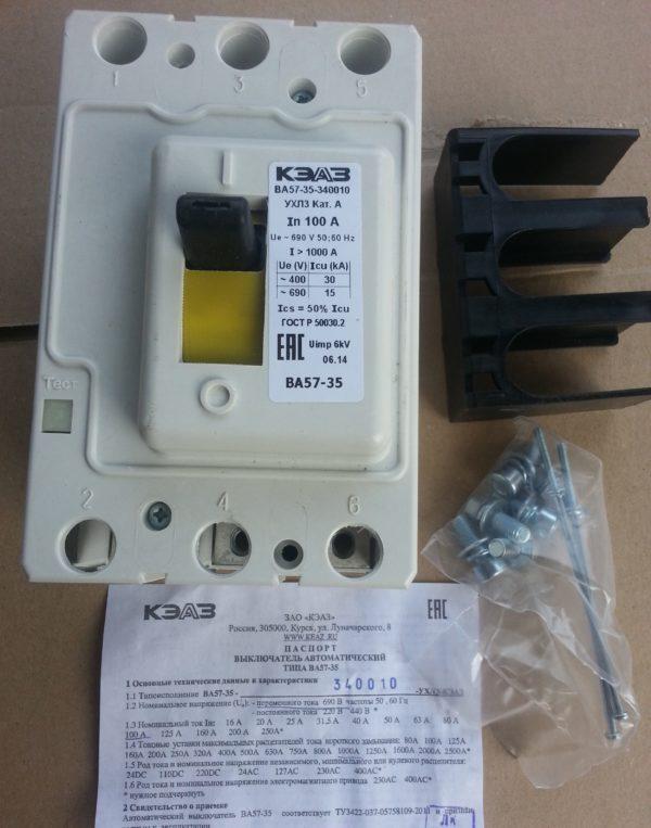 Выключатель автоматический ВА 5735 340010 100А